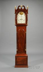 Federal Mahogany Tall Clock by Samuel Mulliken