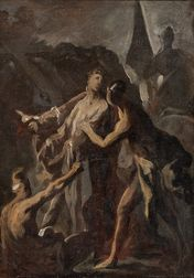 Manner of Alessandro Magnasco (Italian, 1667-1749)      Oil Sketch of The Disrobing of Christ