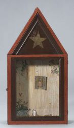 Painted Glazed Wooden Cabinet