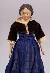 Papier-mache Shoulder Head Doll
