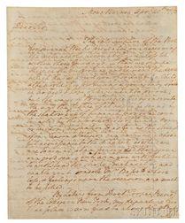 Washington, George (1732-1799) Autograph Letter Signed, Mount Vernon, 20 April 1773.