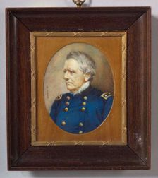 American School, 19th Century    Miniature Portrait of General John Adams Dix.
