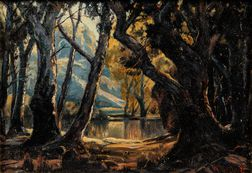 Hanson Duvall Puthuff (American, 1875-1972)      Forest Scene