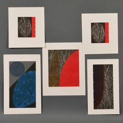 Katsunori Hamanishi (b. 1949), Five Color Etchings