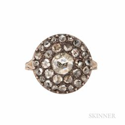 Antique Rose-cut Diamond Ring