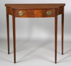 Federal Mahogany Inlaid Serving Table