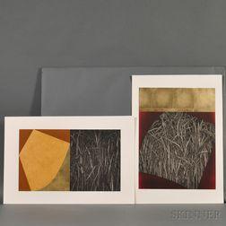 Katsunori Hamanishi (b. 1949), Two Color Etchings
