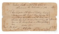 Washington, George (1732-1799) Document, Twice Signed, 25 January 1774.