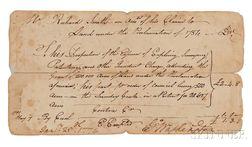 Washington, George (1732-1799) Document, Twice Signed, 25 January 1774.