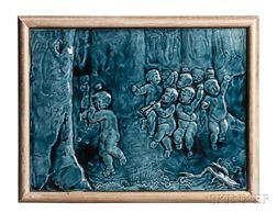 J & J.G. Low Art Scenic Pottery Tile
