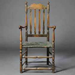 Birch and Maple Bannister-back Armchair