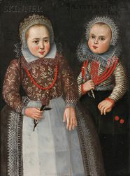 Dutch School, 17th Century      Portrait of Two Sisters