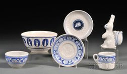 Six Pieces of Dedham Rabbit Pottery