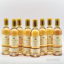 Chateau dYquem 2001, 8 demi bottles