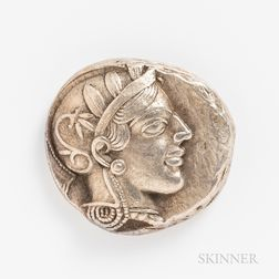 Two Attica Athens Tetradrachms