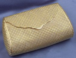 18kt Bi-color Gold Weave and Diamond Evening Purse, Piccini, Florence