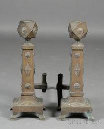 Pair of Arts & Crafts Andirons