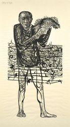 Leonard Baskin (American, 1922-2000)      Man of Peace