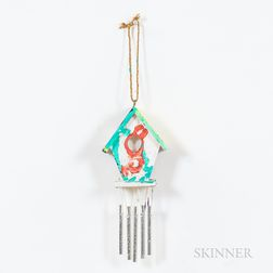 Joanne O'Connell (American, 20th/21st Century)      Birdhouse with Chimes