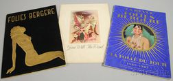 Two Folies Bergere Programs and a Gone With The Wind   Movie Program