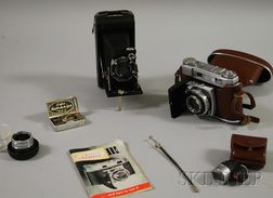 Kodak Retina III C and a Kodak Junior Six-20 Folding Camera