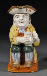 Pratt-type Staffordshire Toby Jug