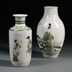 Two Famille Verte Vases