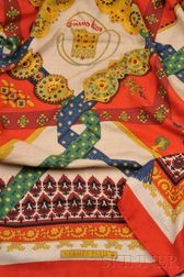 Vintage Cashmere and Silk Scarf, Hermes, Paris