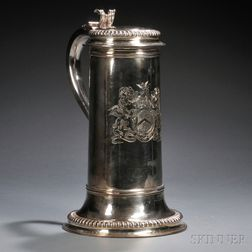 William III Large Sterling Silver Tankard