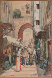 Anna Rychter-May (German, 1865-1955)      Old City, Jerusalem