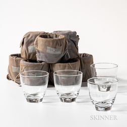 Set of Twelve Steuben Crystal Old Fashioned Glasses