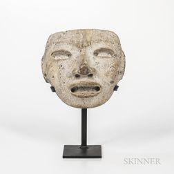 Pre-Columbian Stone Funerary Mask