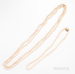 Two Cultured Pearl Necklaces