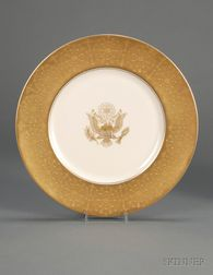 Castleton Studios Bone China 1958 World's Fair Eisenhower Service Plate