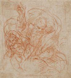 Attributed to Simone Cantarini (Italian, 1612-1648)      God the Father