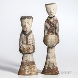 Two Painted Pottery Figures