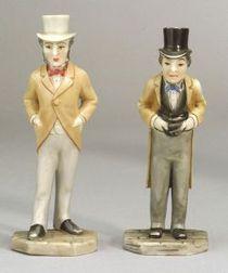 Two Royal Worcester Porcelain Political Menu Holders