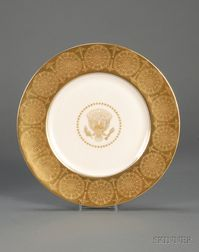 Castleton Studios Bone China Eisenhower White House Service Plate