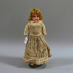 Bisque Shoulder Head Doll