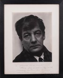 Anderson, Sherwood (1876-1941) Signed Photograph Inscribed to Horace Liveright (1884-1933).