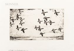 Frank Weston Benson (American, 1862-1951)      Over Currituck Marshes