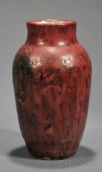 Dedham Pottery Sang de Boeuf Vase