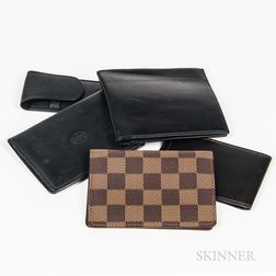 Group of Gentlemen's Designer Leather Goods