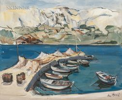 Branko Becic (Croatian, 1923-2000)    Two Harbor Views