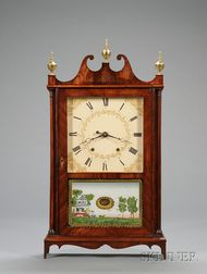 Mahogany Pillar and Scroll Clock by Eli & Samuel Terry