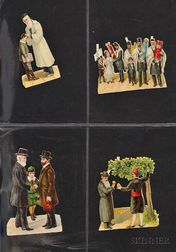(American Judaica) Collection of Sixteen Color Die Cuts
