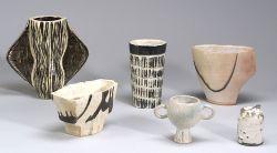 Six Pottery Vessels