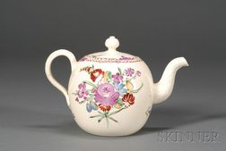 Staffordshire Lead Glazed Creamware Teapot and Cover