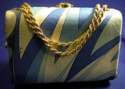 Vintage Printed Silk Handbag, Pucci