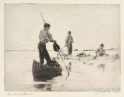 Frank Weston Benson (American, 1862-1951)      Two Canoes